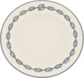 "Luxury Accessories:Home, Hermes Set of Twelve; Blue Chaine d'Ancre Limoges Porcelain ChargerPlates. Pristine Condition. 9"" Diameter. ... (Total:2 Items)"
