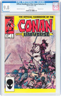 Modern Age (1980-Present):Miscellaneous, The Official Handbook of the Conan Universe #1 Second Printing (Marvel, 1986) CGC NM/MT 9.8 White pages....