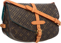 Louis Vuitton Limited Edition Classic Monogram Canvas Perforated Saumur MM Bag Excellent Condition