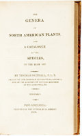 Books:Natural History Books & Prints, Thomas Nuttall. The Genera of North American Plants, and a Catalogue of the Species to the Year 1817. Philadelph...