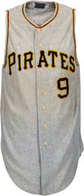 Baseball Collectibles:Uniforms, 1967 Bill Mazeroski Game Worn Pittsburgh Pirates Jersey, MEARS A10....