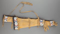 American Indian Art:Beadwork and Quillwork, A SIOUX BEADED HIDE BOW CASE AND QUIVER. c. 1930... (Total: 2Items)