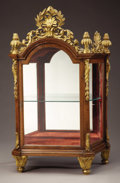 Furniture , An Italian Baroque Walnut and Giltwood Table Vitrine. . Late 18th Century. Walnut and giltwood. 39 inches high x 24 inches w...