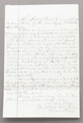 Western Expansion:Cowboy, AUTOGRAPH BY FAMOUS LAWMAN/OUTLAW HENRY BROWN 1881 - Henry NewtonBrown (1857-1884) was a lawman and also an outlaw in his v...