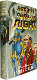 Books:Fiction, Arthur C. Clarke: Against the Fall of Night. Signed by KellyFreas, (New York: Gnome Press, 1953), first edition, 223 pa...