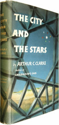 Books:Fiction, Arthur C. Clarke: The City and the Stars. (New York:Harcourt, Brace, 1956), first edition, 310 pages, blue boards,8vo,... (Total: 1 Item)