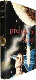 Books:Fiction, Arthur C. Clarke: Prelude to Space. (New York: Gnome Press,1954), first edition, 191 pages, blue boards, 8vo, dust jack...(Total: 1 Item)