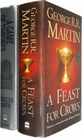 Books:Signed Editions, George R. R. Martin: Two Signed Song of Ice and Fire Novels. Includes the following: . A Game of Thrones (I).... (Total: 2 Item)