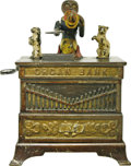 "Antiques:Toys, ""Organ Bank"" Mechanical Bank - Cat and Dog..."