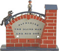 "Antiques:Toys, ""Patronize the Blind Man and His Dog"" Mechanical Bank..."