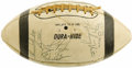Football Collectibles:Balls, 1966-67 Baltimore Colts Team Signed Football. Titanic roster of eighty-eight signatures represents the most comprehensive t...