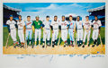 Baseball Collectibles:Others, 1988 500 Home Run Club Multi Signed Ron Lewis Lithograph Artist Proof....