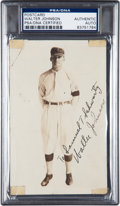 Baseball Collectibles:Photos, Circa 1912 Walter Johnson Signed Real Photo Postcard....