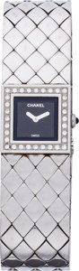 "Luxury Accessories:Accessories, Chanel Diamond & Stainless Steel Matelesse Watch. ExcellentCondition. 12mm Width x 7"" Length. ..."