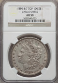 Morgan Dollars, 1880 $1 8 Over 7 Spikes, VAM-6, AU50 NGC. TOP-100. PCGS Population (22/84). ...