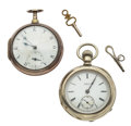 Timepieces:Pocket (pre 1900) , IWC & Silver Pair Case Pocket Watches Runners. ... (Total: 2Items)