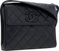 "Luxury Accessories:Bags, Chanel Navy Blue Quilted Lambskin Leather Shoulder Bag with GoldHardware. Good to Very Good Condition. 9"" Width x 8""..."