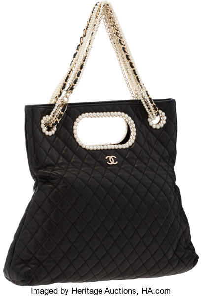 408b9461edf0 Chanel Black Quilted Lambskin Leather Westminster Bag with