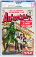 Golden Age (1938-1955):Science Fiction, Astonishing #42 (Atlas, 1955) CGC VF- 7.5 Off-white pages....
