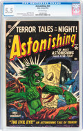 Golden Age (1938-1955):Horror, Astonishing #33 (Atlas, 1954) CGC FN- 5.5 Off-white pages....