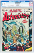 Golden Age (1938-1955):Science Fiction, Astonishing #40 (Atlas, 1955) CGC FN+ 6.5 Off-white pages....