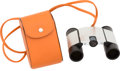 "Luxury Accessories:Accessories, Hermes & Swarovski Stainless Steel Binoculars and Orange HChamonix Leather Case. Very Good Condition. 2.5"" Width x4...."