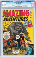 Silver Age (1956-1969):Horror, Amazing Adventures #1 (Marvel, 1961) CGC FN 6.0 Off-white to whitepages....