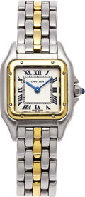 Estate Jewelry:Watches, Cartier Lady's Gold, Stainless Steel Panthere Wristwatch. ...