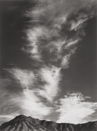 ANSEL ADAMS (American, 1902-1984) Clouds Above Golden Canyon, Death Valley (from Portfolio 1