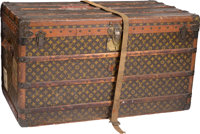 "Louis Vuitton Classic Monogram Canvas Steamer Trunk Fair Condition 39"" Width x 23"" Height x 21"""