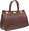 "Luxury Accessories:Bags, VBH Brown Crocodile Vault Bag. Excellent to PristineCondition. 15"" Width x 10"" Height x 6"" Depth. CITEScomplia..."