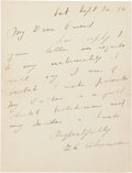 Baseball Collectibles:Others, 1916 Grover Cleveland Alexander Handwritten Signed Letter....