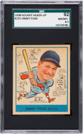 Baseball Cards:Singles (1930-1939), 1938 Goudey Jimmy Foxx #273 SGC 92 NM/MT+ 8.5 - Pop Two, None Higher....