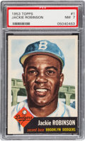 Baseball Cards:Singles (1950-1959), 1953 Topps Jackie Robinson #1 PSA NM 7....