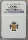California Fractional Gold , 1854 $1 Liberty Octagonal 1 Dollar, BG-510, Low R.5, -- MountRemoved -- NGC Details. VF. NGC Census: (0/13). PCGS Popu...