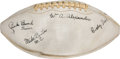 "Football Collectibles:Balls, 1944 Georgia Tech Team Signed ""Five-Million Dollar"" Sugar Bowl Game Used Football...."