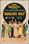 "Movie Posters:Comedy, Burglars Bold (Pathé, 1921). One Sheet (27"" X 41""). Comedy.. ..."