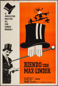 """Movie Posters:Foreign, Laugh with Max Linder (Gala, 1963). Argentinean Poster (29"""" X 43""""). Foreign.. ..."""