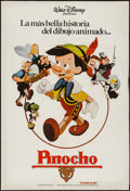 """Movie Posters:Animation, Pinocchio (Walt Disney Productions, R-1984). Argentinean Poster (29"""" X 43""""). Animation.. ..."""