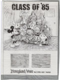 Animation Art:Production Drawing, Disneyland Records Mickey Mouse, Snoopy, Rainbow Bright, DarthVader, Indiana Jones, and Others Print Ad Layout Illustration (...