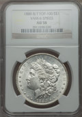 Morgan Dollars, 1880 $1 8 Over 7 Spikes, VAM-6, AU58 NGC. TOP-100. PCGS Population (22/20). ...