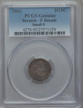 Early Half Dimes, 1803 H10C Small 8, V-3, LM-1, R.5 -- Scratch -- PCGS Genuine. FineDetails....