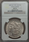 Morgan Dollars, 1880 $1 8 Over 7 Spikes, VAM-6, AU53 NGC. TOP-100. PCGS Population (19/65). ...