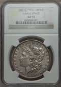 Morgan Dollars, 1880 $1 8 Over 7 Spikes, VAM-6, AU55 NGC. TOP-100. PCGS Population (23/42). ...