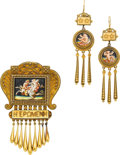 Estate Jewelry:Suites, Victorian Enamel, Gold Jewelry Suite, Eugene Fontenay. ... (Total:2 Items)