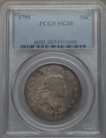 Early Half Dollars, 1795 50C 2 Leaves, O-125, R.4, VG10 PCGS....