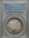 Bust Half Dollars: , 1808/7 50C AU50 PCGS. PCGS Population: (20/86). CDN: $1,300 Whsle. Bid for NGC/PCGS AU50. . From A S...