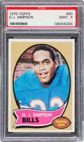 Football Cards:Singles (1970-Now), 1970 Topps O. J. Simpson #90 PSA Mint 9 - None Higher....