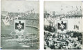 Olympic Collectibles:Autographs, 1936 Berlin Olympic Photograph Book Lot of 2 - One Signed by Jesse Owens. ...