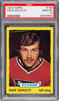 Hockey Cards:Singles (1970-Now), 1973 Topps Dave Schultz Rookie Card #149 PSA Gem Mint 10 - The Ultimate Example! ...